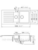 Кухонная мойка Schock SIGNUS D150 Magma 50086097