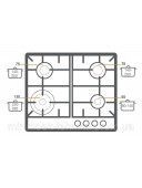 Варочная панель газовая Fabiano FHG 10-44 GH-T Black Glass