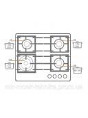 Варочная панель газовая Fabiano FHG 14-44 VGH-T Black glass