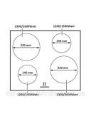 Варочная панель электрическая Fabiano FHI 19-44 VTC Lux Cream