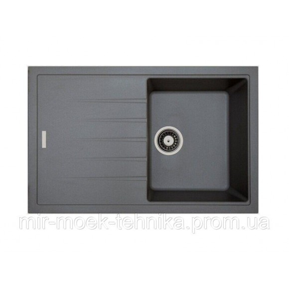 Гранитная кухонная мойка Fabiano Classic 78x50 Titanium