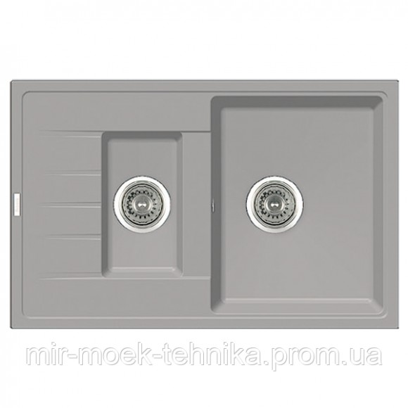Гранитная кухонная мойка Fabiano Classic 78x50x15 Grey Metallic
