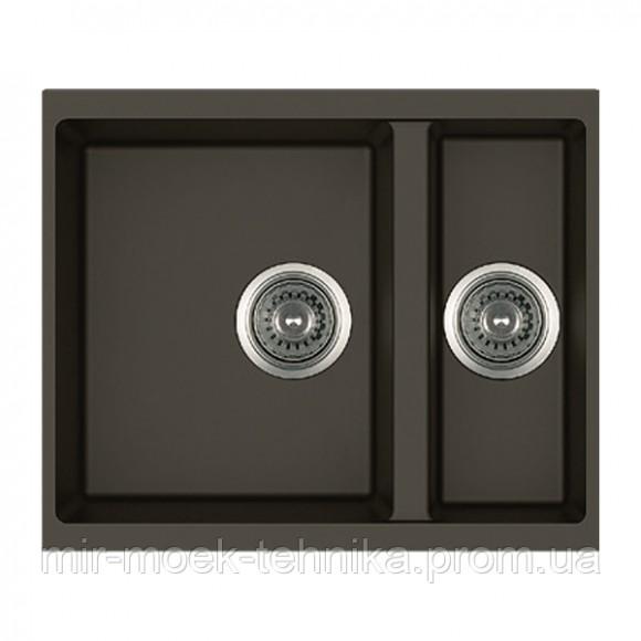 Гранитная кухонная мойка Fabiano Quadro 56x46x15 Espresso