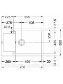 Кухонная мойка Franke Maris MRG 611-78 XL 1140374919 графит