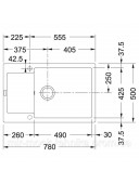 Кухонная мойка Franke Maris MRG 611-78 XL 1140374920 оникс