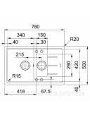 Кухонная мойка Franke Basis BFG 651-78 1140272632 шоколад