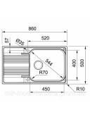 Кухонная мойка Franke Smart SRX 611-86 XL 1010456705 полированная