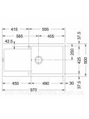 Кухонная мойка Franke Maris MRG 611-97 XL 1140367736 графит
