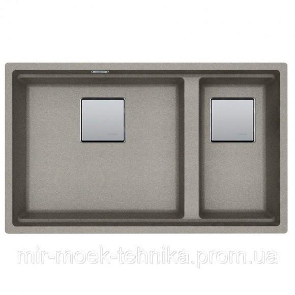 Кухонная мойка Franke Kubus 2 KNG 120 Super Metallic 1250599048 жемчужно-серый