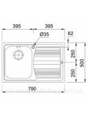 Кухонная мойка Franke Logica line LLX 611-79 1010381806
