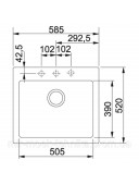 Кухонная мойка Franke Maris MRG 610-58 1140502828 графит