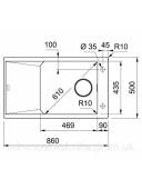 Кухонная мойка Franke FX FXG 611-86 1140517143 оникс