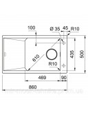 Кухонная мойка Franke FX FXG 611-86 1140517140 графит