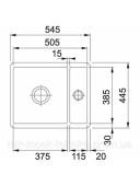 Кухонная мойка Franke Kubus KBK 160 1260380348 черный матовый