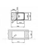 Кухонная мойка Teka UNIVERSO MAX 79 1B 1D 115120003 нержавеющая сталь