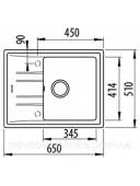 Кухонная мойка Teka STONE 45 S-TG 1B 1D 115330042 серый металлик