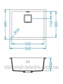 Кухонная мойка ALVEUS QUADRIX 50G 1108034